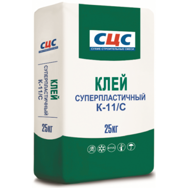 Клей плиточный СЦС Суперпластичный К-11/С, 25кг