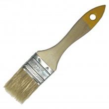 Кисть с натуральной щетиной плоская KORVUS Хобби 38мм
