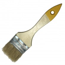 Кисть с натуральной щетиной плоская KORVUS Хобби 50мм