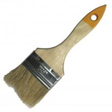 Кисть с натуральной щетиной плоская KORVUS Хобби 63мм
