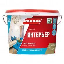 Краска акриловая PARADE CLASSIC W3 Интерьер белая матовая 10л