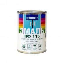 Эмаль ПФ-115 PROREMONTT черный 0,9кг