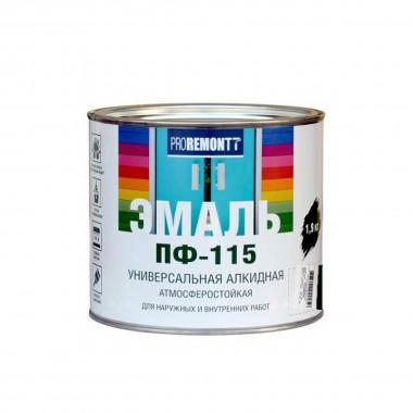 Эмаль ПФ-115 PROREMONTT черный 1,9кг