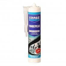 Герметик силиконовый белый KRASS универсальный, 300мл