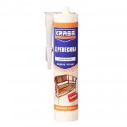 Клей жидкие гвозди KRASS для древесины Эластичный монтаж, 300мл, бежевый