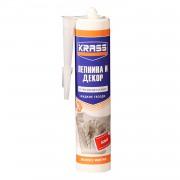 Клей жидкие гвозди KRASS для стиропора и панелей Экспресс монтаж, 300мл, белый