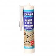 Герметик силиконовый бесцветный KRASS для бетона и натурального камня, 300мл