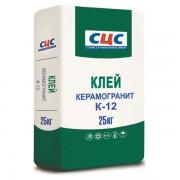 Клей плиточный СЦС Керамогранит К-12, 25кг