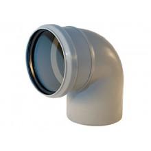 Отвод канализационный 110*90 серый ПВХ