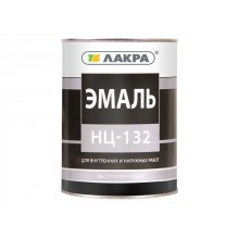 Эмаль НЦ-132 Лакра Черный 0,7кг Россия