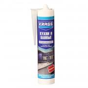 Герметик силиконовый бесцветный KRASS для кухни и ванны, 300мл