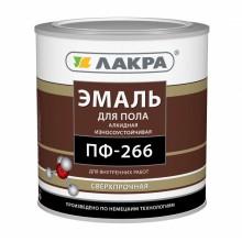 Эмаль ПФ-266 Красно-коричневая 3 кг Лакра