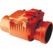 Обратный клапан канализационный рыжий 110 ПВХ
