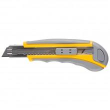 Нож Мастер Плюс, 18мм обрезиненный корпус с напр.
