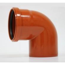 Отвод канализационный 110*87 рыжий ПВХ