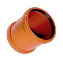 Муфта канализационная надвижная 160 рыжая ПВХ