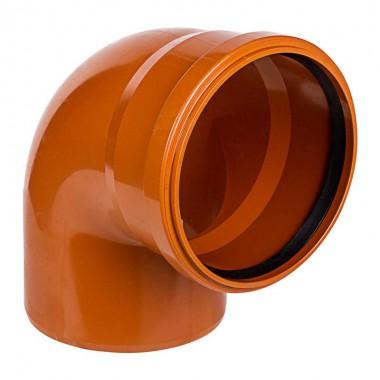 Отвод канализационный 160*87 рыжий ПВХ