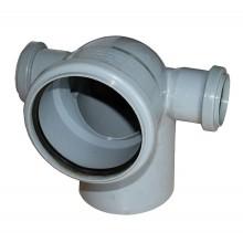 Отвод универсальный 110*50*50-90 левый/правый (серый) ПВХ