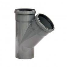 Тройник 110*110*45 серый ПВХ