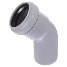 Отвод канализационный 50*45 серый ПВХ