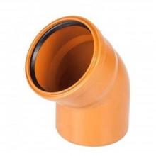 Отвод канализационный 110*45 рыжий ПВХ
