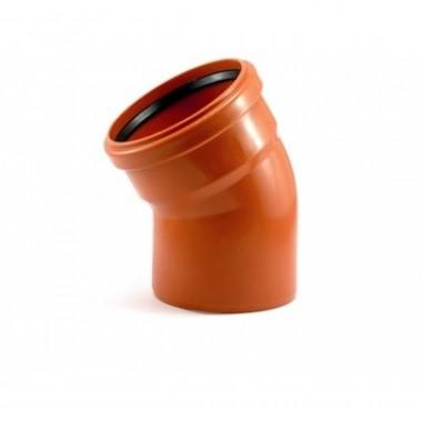 Отвод канализационный 110*30 рыжий ПВХ